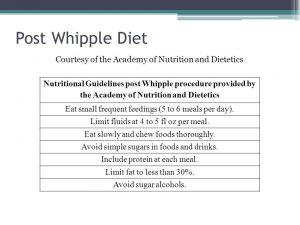 Post Whipple Diet